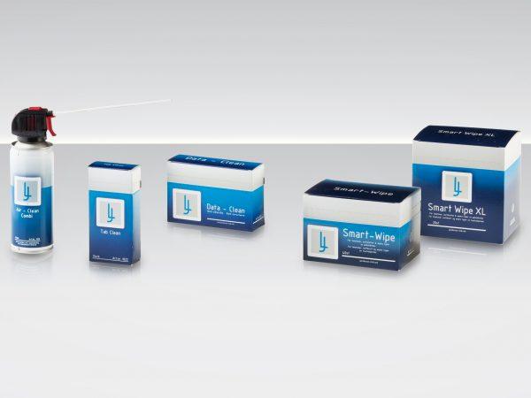 Data Clean, Air Clean, Tab aClean och Smart wipe.